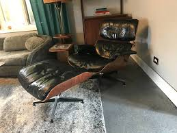 vintage eames lounge chair for herman miller brazilian rosewood