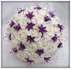 cheap flowers for wedding wedding flowers flowers wedding bouquet in ivory purple silver