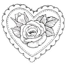 heart doily valentines rubber sts party supplies discontinued heart