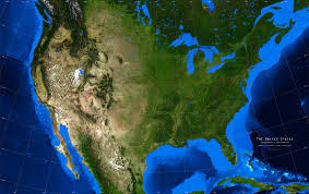 United States Satellite Weather Map by United States Topographical Map Students Britannica Kids Large