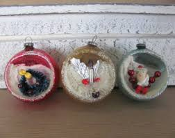 vintage ornaments mercury glass ornament green