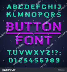 font vector illustration set numbers letters stock vector