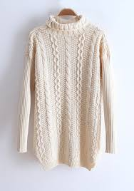 high sweaters beige high neck sleeve knit sweater sweaters tops