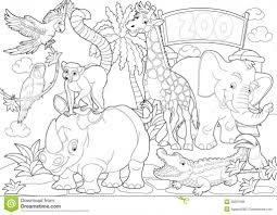 zoo animals coloring pages inside animal ffftp net