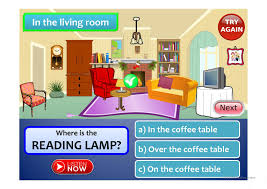 in the living room furniture prepositions of place a game full screen