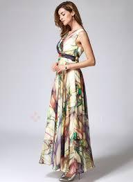 maxi kjoler chiffon blomster ærmeløse maxi kjoler floryday