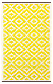 Yellow And White Outdoor Rug Indoor Outdoor Rug With A Beautiful Moroccan Design In Yellow And