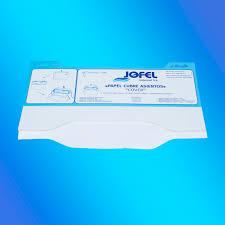 couvre si e boite couvre siège wc en papier 125 feuilles u x12 unités