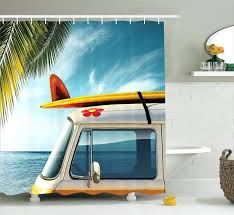 Surfer Shower Curtain Shower Curtains Surf Board Shower Curtain Bathroom Inspirations