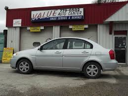 hyundai accent 4 door sedan 2007 hyundai accent 2007 hyundai accent 4 door sedan grey for 7895