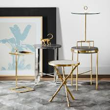 Brass Accent Table Accent Table With Handle Williams Sonoma