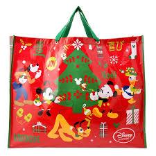 christmas shopping bags disney store mickey friends christmas shopping bag reusable