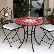 Mosaic Patio Table And Chairs Furniture Design Ideas Enchanting Mosaic Patio Furniture Set