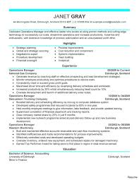 sle resume cost accounting managerial approaches to implementing operations manager resume sle exles retail template saneme