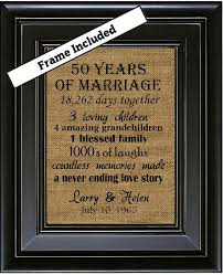 framed 50th wedding anniversary 50th anniversary gifts 50th wedding