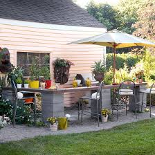 budget friendly ideas for outdoor rooms kitchens reuse and bar