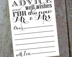 wedding wishes and advice cards items similar to leave your advice and well wishes for the