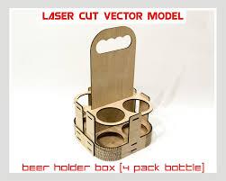 beer holder box laser cut vector instant download laser cut