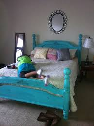 distressed teal bed home decor ideas pinterest teal bedding