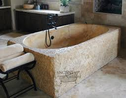 old stone sink old world style is brought to the bathroom with