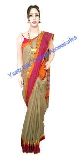 yaalz maheshwari silk cotton saree with matching neckset jumka