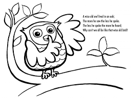 owls coloring pages with letter free coloring book picture
