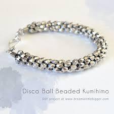 metal beads bracelet images Disco ball beaded kumihimo bracelet dream a little bigger jpg