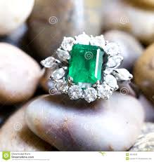 big diamonds rings images Diamond ring with big emerald stock photo image of expensive jpg