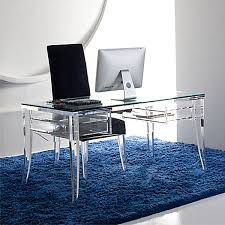Unique Desk Ideas Office Cool White Office Desk With Wide Acrylic Legs And Unique