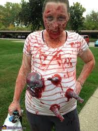 Zombie Halloween Costumes Creepy Pregnant Zombie Halloween Costume Photo 5 7