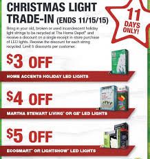 home depot ge christmas lights home depot christmas light trade in thru 11 15 saving toward a