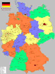 map of germany with states and capitals map of germany with cities and states 6 german state capitals