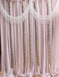 Pink Nursery Curtains by Champagne White Subtle Pink Lace Backdrop Props Wedding Ceremony