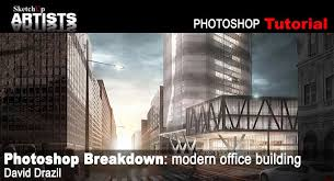 photoshop breakdown modern office building sketchup 3d