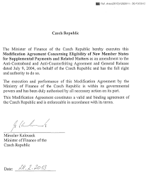 modification agreement concerning eligibility of new member states
