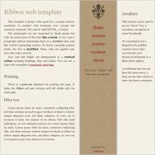 ribbon template free website templates in css html js format for