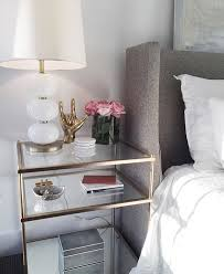 side tables bedroom white nightstand with gold hardware deltaqueenbook
