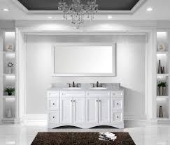 Marble Top Vanities Virtu Usa Ed 25072 Wmro Wh Talisa 72 In Bathroom Vanity Set