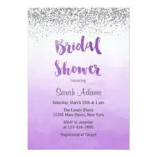 Purple And Silver Wedding Purple And Silver Bridal Shower Invitations U0026 Announcements Zazzle