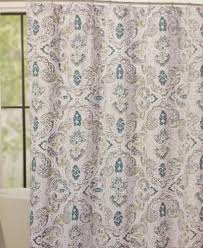 Grey Green Shower Curtain Cynthia Rowley Mica Paisley Fabric Shower Curtain Grey Teal Green