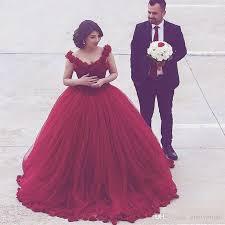 burgundy ball gown evening dresses robes dubai 3d floral arabic
