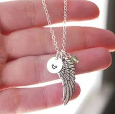 Personalized Remembrance Gifts Personalized Memorial Necklace Memorial Gifts Angel Wing