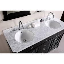 Double Sink Vanity Units For Bathrooms Top 55 Inch Double Sink Vanity Abersoch 55 Inch Wall Mounted