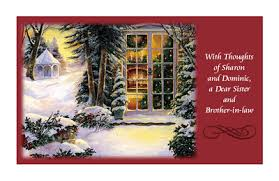 to a dear sister and brother in law greeting card christmas