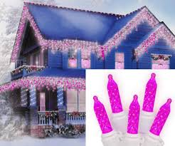 pink led m5 icicle lights with