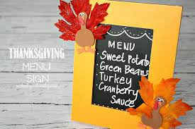 thanksgiving menu sign yesterday on tuesday
