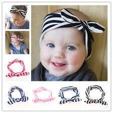headband baby murah 1pcs baby weave headwrap knot headband hat wave stripes bow