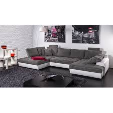 canap microfibre gris canapé panoramique marit convertible imitation cuir blanc