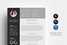 Resume Paper Size Word Infographic Cv Resume Templates Creative Market