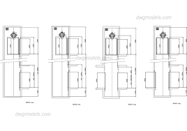 elevators kone section cabin dwg free cad blocks download
